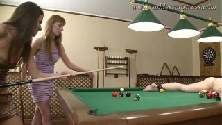 A game pure man could not win hardcore double pussy fuck on the pool table