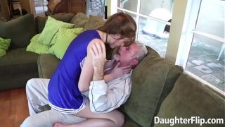 Attractive stepdaughters give a blowjob to and pounded by their stepfathers in this extraordinary XXX scene.