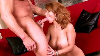 Big titted Mature Whore Stripping and Fucking the Personal Trainer