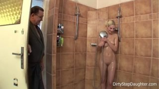 DiryStepDaughter – Lewd Stepdad Shower Fucks Blonde Stepdaughter