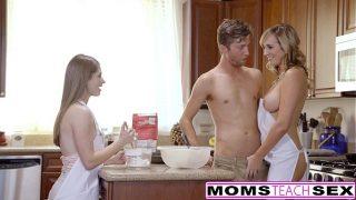 Horny Mom Tricks Teen Into Hot Threeway