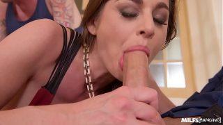 Milf Cathy Heaven's XXX sex needs fulfilled by three studs' hard long dicks