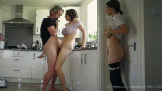 Naughty Stepdaughter Ep. 15 Part 1 – Stepdaughter spies on Daddy fucking and hatches a plan