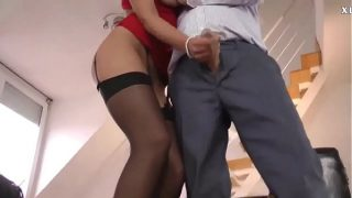 Old Man and 19 Years Old Teen Babe Having Hot Fuck